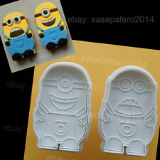 Minions Despicable Me Plunger cookie cutter with stamp 2 pcs. Cortador Minions.
