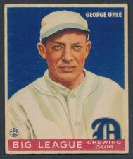 BASEBALL 1934 GOUDEY BIG LEAGUE CHEWING GUM #22 GEORGE UHLE!! B23