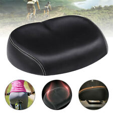US Big Ass Bicycle Bike Cycling Noseless Saddle Wide Large Soft PVC PU Pad Seat