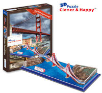 Golden Gate Bridge 3D Puzzle Jigsaw Model San Francisco Bay California USA