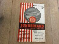 SUNDERLAND V BLACKPOOL 1955/56