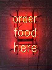 "Order Food Here Neon Light Sign 24""x20"" Beer Bar Decor Lamp Glass Artwork"