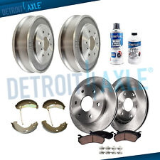 Front Disc Rotor Ceramic Pads Rear Drum for 2005 2006-2008 Silverado Sierra 1500