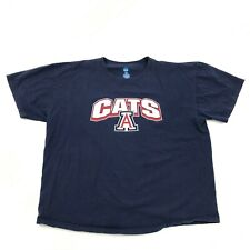 NCAA Arizona CATS 3D Shirt Size 2XL XXL Blue Collegiate UofA WILDCATS Tail Gate