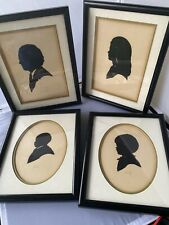 Vtg Lot Family 4 Vintage Silhouette Portrait Art Cut Out Signed, Dated Lovely