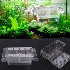 Aquarium Fish Tank Guppy Double Breeding Breeder Rearing Trap Box Hatchery'
