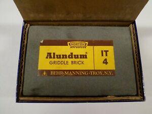 """Norton Sharpening Stone Alundum Griddle Brick IT 4 Behr-Manning 2"""" X 3"""" X 4-1/2"""""""
