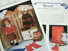 8p History Article + Pics -  Antique Bleuette French Bisque Doll & Paper Doll
