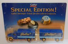 GRELL HO 1/87 CAMION REMORQUE TRUCK TRAILER MAGIRUS S7500 CHOCOLAT GUBOR