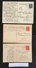 Estonia 19xx. 3 domestic P.S. postcards with diff. postmarks.