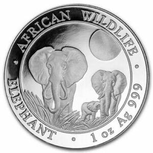 2  x 2014 Somalia Elephant - 1 oz BU .999 Silver  2 COINS