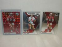 Steve Young - 3 Card Lot * 2020 Panini Mosaic * Red Prizm Parallel, HOF, Base