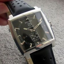 Tag Heuer Monaco Automatic Calibre 6 Gents Watch Black WW2110 Boxed & Papers
