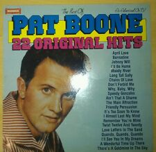 """PAT BOONE 22 ORIGINAL HITS 12"""" RECORD FOR SALE"""