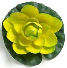 Flower Silk Polyester Floating Water Lily Lemon 21cm Home Yard Pond Fish Tank