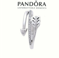 Authentic Pandora Silver 925 ALE Sparkling Arrow Love Ring 197830CZ Size 6/52mm