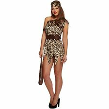ADULT CAVE WOMAN LADY ANIMAL DRESS UP OUTFIT womens ladies fancy dress costume