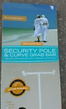 Security Pole and Curve Grab Bar Adjustable Floor to Ceiling Support Handle Grip