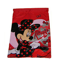 Disney Minnie Mouse Lipstick Library Shoe Sports Drawstring Trainer Bag Official