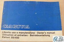 CAGIVA libretto uso e manutenzione Elefant 350-650