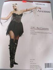 Sexy Bat Costume Medium Black Devil Fairy Leg Avenue Fancy Dress Cosplay