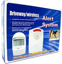 Driveway Alarm Wireless 400' Range Infrared Motion Activated Home Business Pool