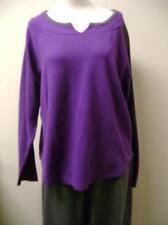 Sport Savvy Petite  Sweatsuit PL Purple/Charcoal NWOT Shop Worn/Fabric Defect