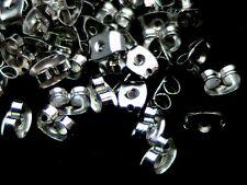 250 (125 Pairs) 6mm Silver Tone Butterfly Earring Backs Jewellery Findings U68