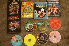 DVD LOT OF 12 yugiho/goofy/shrek2//fantastic 4/harry potter/spongebob/telegubbi