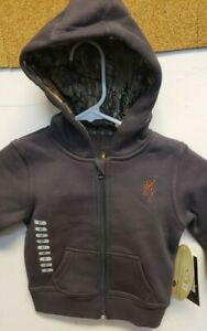 Browning A0001310003 Toddler Full Zip Sweatshirt w/ Camo Lined Hood