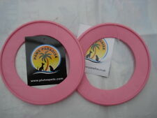 Durable PVC (PINK SMALL)  Fling A Ring - Frisbee . Paws Paradise + Plutos Pets
