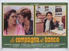 LA COMPAGNA DI BANCO commedia di Laurenti con Carati D'Angelo fotobusta 1977