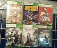 Lot Of Six 6 Microsoft Xbox 360 Action Games Borderlands Red Dead Redemption