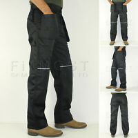 Mens Combat Cargo Work Trousers With Knee Pad Multi Pockets Pants Size 30 - 48