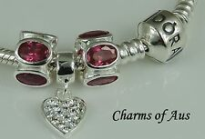 GENUINE Pandora bracelet with 3 stunning 925 Sterling Silver charms. Christmas!!