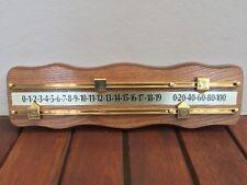 Hard Wood Wall Mount Billiard Snooker Pool Scoreboard w/ Brass Rails & Pointers
