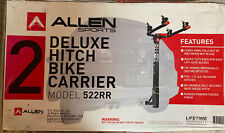 """Allen Sports Deluxe Hitch 2 Bike Carrier 522RR New 1 1/4"""" And 2 """" Hitch"""