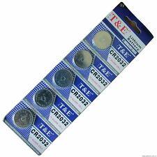 Coin Button Batteries T&E Watch Calculator Uk 5 x Cr2032 Battery Lithium 3V Cell