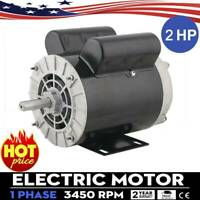 "2HP SPL Compressor Duty Electric Motor 3450 RPM 56 Frame 5/8"" Shaft 120/240V USA"