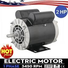 2HP SPL Compressor Duty Electric Motor 3450 RPM 56 Frame 5/8
