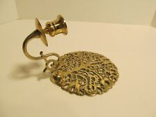 Vintage Cast Brass Wall Sconce Candle Holder.