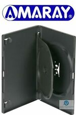 200 NERO DOPPIO DVD casi 14 mm COLONNA vertebrale con SWING VASSOIO Sostituzione Coperchio AMARAY