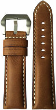 24x22 RIOS1931 for Panatime Classic Brown Vintage Watch Strap for Panerai