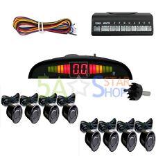 Einparkhilfe 8 Sensoren Schwarz Auto Rückfahrwarner Rückfahrsystem Parksensoren