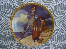 Vintage Knowles Plate by Norman Rockwell Waiting on the Shore - Mib Coa