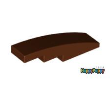 Lego 6x Dach Bogen Stein 4x1 Braun Reddish Brown Slope Curved 61678 Neuware New
