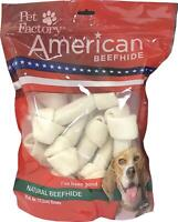 Pet Factory American Beefhide Chews 28213 Rawhide Natural Flavor 6-7  Bones for