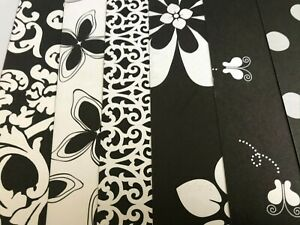 KQ30 BLACK WHITE CARDSTOCK DOUBLE SIDED PAPERCRAFT SCRAP BOOKING CARD MAKING