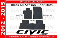 Genuine OEM Honda Civic 4Dr Sedan Black All Season Floor Mats 2012 - 2015 (110B)