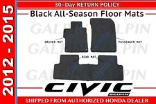 Genuine OEM Honda Civic 4Dr Sedan Black All Season Floor Mats 2012 - 2015 (110B)